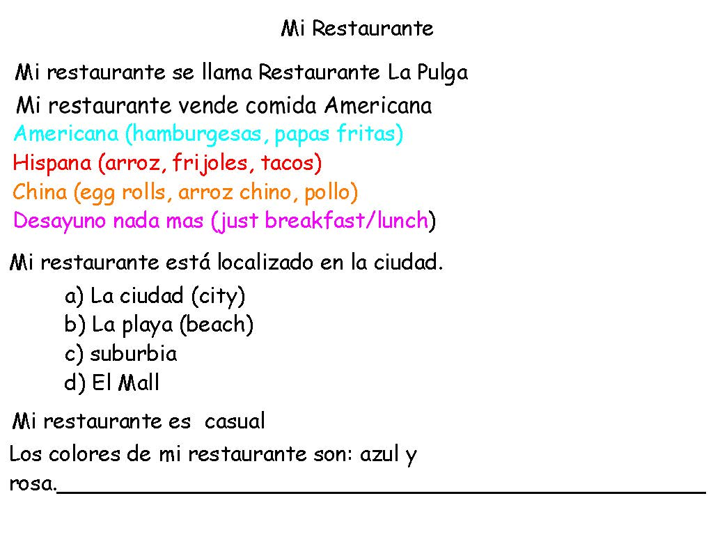Websites for esl and l2 teachers welcome el restaurantepage1 robcynllc Image collections