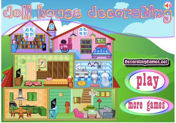 Dollhouse deco games