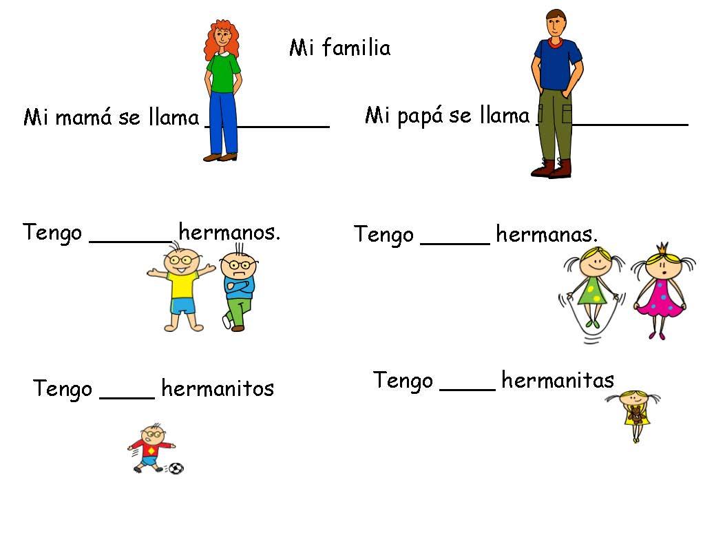 worksheet La Familia Worksheets spanish 101 how not to confuse lafamilia234 page 1