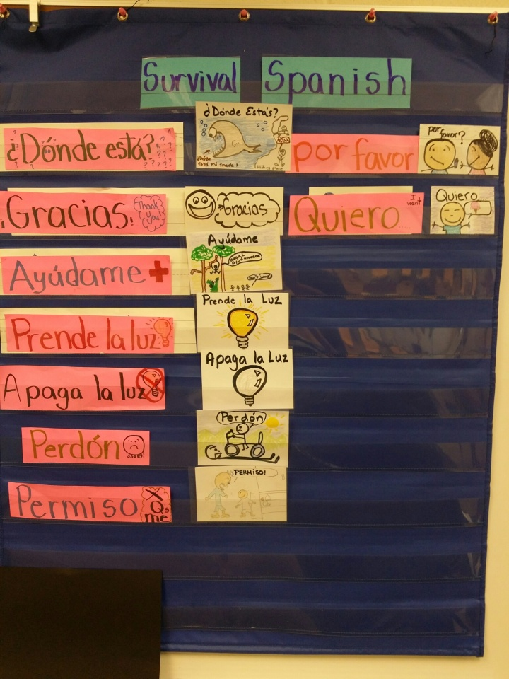 """Basic spanish phrases a.k.a. """"pink words"""""""