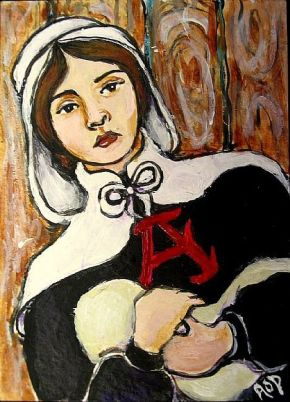 Homework Help: The Scarlet Letter by Nathaniel Hawthorne- Describe the narrator's description of the demeanor of the spectators and the words of the women in The ScarletLetter.