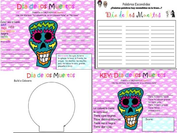 Dia de los Muertos Activity Pack available now