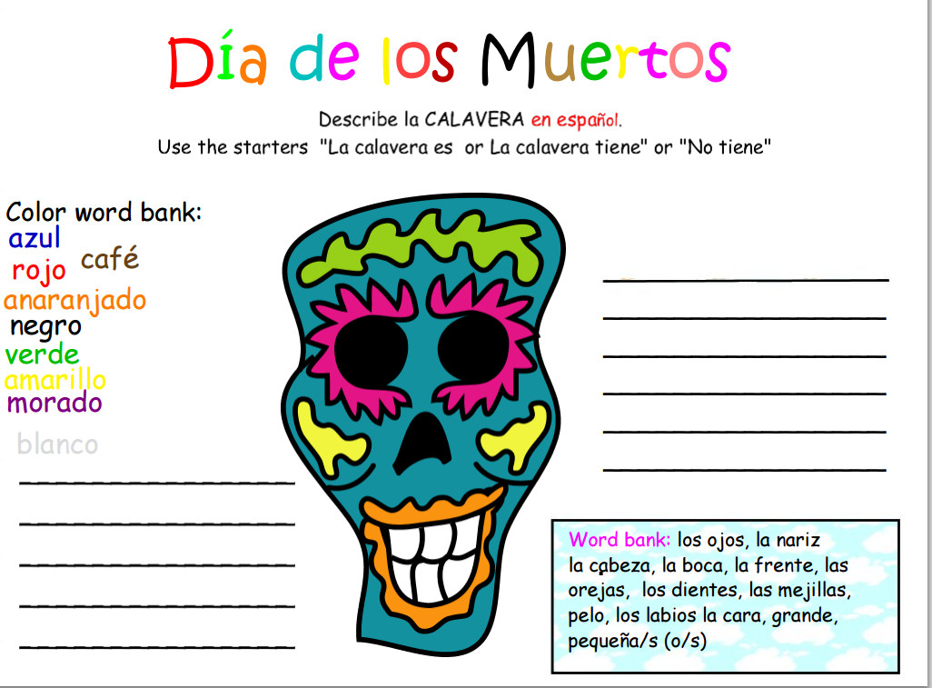 Day of the Dead paper flower crown skeleton hand party