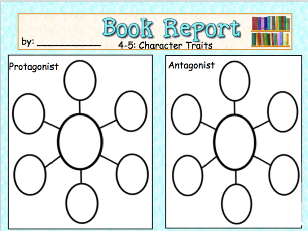 book report graphic organizers