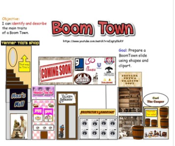 The purpose of the project is to build their own boom towns